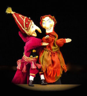 Punch et Judy spectacle de marionnettes de la compagnie Tenon Mortaise