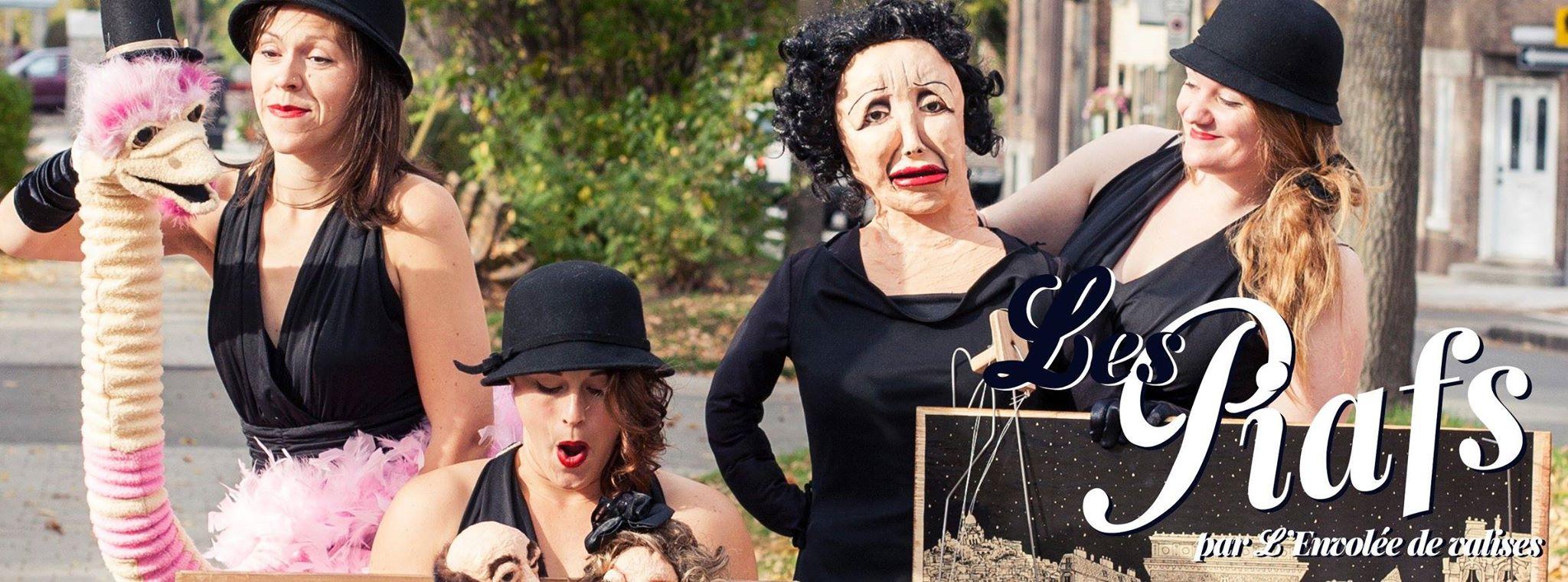 Spectacle de marionnettes tout public nommé Les Piafs de la compagnie L'Envolée de valises