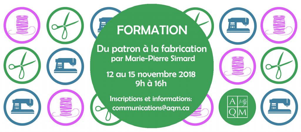 Formation du patron à la fabrication donnée par Marie-Pierre Simard